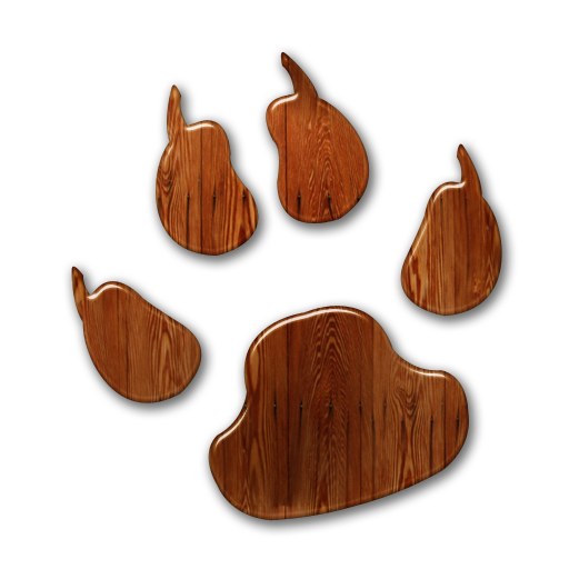 016346 glossy waxed wood icon animals animal dog print