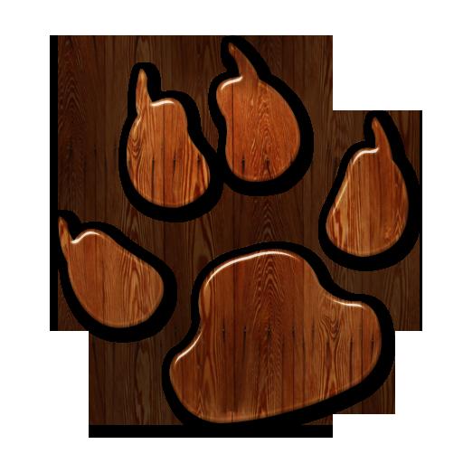 016346 glossy waxed wood icon animals animal dog print